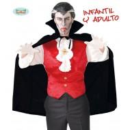 MANTELLO NERO VAMPIRO HORROR DRAKULA IN PLASTICA 100CM PER TRAVESTIMENTI DI CARNEVALE HALLOWEEN E PARTY A TEMA COD 16182