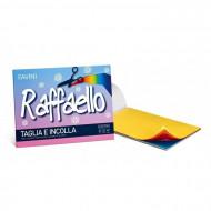 ALBUM RAFFAELLO TAGLIA E INCOLLA 50 FOGLI PER COLLAGE E LAVORETTI IN CARTA 90GR.24X33CM 10 COLORI FAVINI MADE IN ITALY