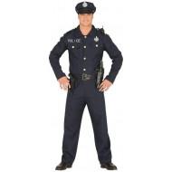COSTUME CARNEVALE POLIZIOTTO 14/16 ANNI POLICE VESTITO COMPLETO DI CAPPELLO/GIACCHETTO/CINTA E PANTALONI NO ACCESSORI