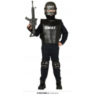 COSTUME CARNEVALE S.W.A.T POLIZIOTTO14/16ANNI VESTITO SWAT SQUADRA SPECIALE P/MONTAGNA CAMICIA CINTA PANTALONE NO ACCESS