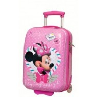 TROLLEY 2 RUOTE ABS MINNIE CUORE 55 CM. DISNEY