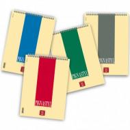 BLOC NOTES SPIRALATO PIGNASTYL A4 80GR.50 FOGLI BIANCHI 21X29CM SPIRALI LATO ALTO CARTIERE PAOLO PIGNA MADE IN ITALY