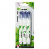 IKONA BLISTER 3 CORRETTORI A PENNA 7ML. PUNTA IN METALLO 0,8MM.ASCIUGA RAPIDAMENTE IKONA+ E UN MARCHIO CWR MILANO ITALY