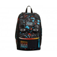 ZAINO SCUOLA SDOPPIABILE MIX PERSONAL ART BOY 27X41X22CM 28L MULTICOLOR 7.1 INNOVATION LAB TOP QUALITY SEVEN ITALY