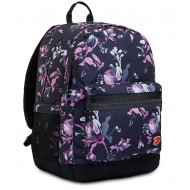 ZAINO SCUOLA SEVEN REVERSIBILE BACKPACK PRO XXL NERO FIORI VIOLA DOUBLE PROJECT POWER BANK 44X32X20CM 2 ZIP GARAN.4 ANNI