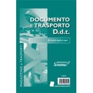 DOCUMENTO DI TRASPORTO D.D.T. 50 MODULI DUPLICE COPIA MAGAZZINO E TRASPORTI.FORMATO A5.14,8X22CM.ART. S3070