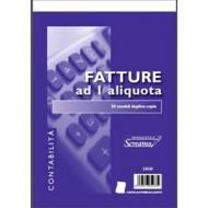 BLOCCO FATTURE 1 ALIQUOTA 50 MODULI DUPLICE COPIA FORMATO A5 15X22.ARTICOLO S3030