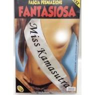 FASCIA PREMIAZIONE MISS KAMASUTRA FANTASIOSA IN POLIESTERE ARTICOLO SCHERZOSO COD.5532K.