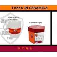 TAZZA IN CERAMICA AS ROMA IN SCATOLA REGALO ESAGONALE IN CARTONE STAMPATO PRODOTTO UFFICIALE