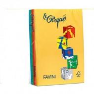 RISMA A4 500 FOGLI CARTA COLORATA FAVINI LE CIRQUE 80GR.MQ.210X297MM.5 COLORI FORTI.FAVINI MADE IN ITALY