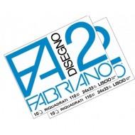 ALBUM DA DISEGNO LISCIO RIQUADRATO 24X33CM F2 FABRIANO 10 FOGLI