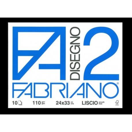 ALBUM DA DISEGNO LISCIO 24X33CM FABRIANO F2 10 FOGLI