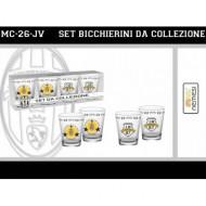 SET BICCHIERINI IN VETRO FC JUVENTUS PRODOTTO UFFICIALE