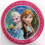 BLISTER 8 PIATTI DI CARTA PARTY FROZEN DISNEY ORIGINAL 23 CM.PER FESTE