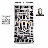 TELO MARE FC JUVENTUS FUNS 75X150 CM.100% COTONE PRODOTTO UFFICIALE ORIGINALE UNIONTEX ITALY