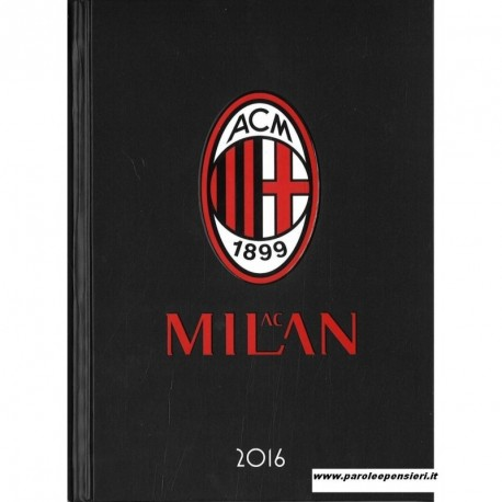 DIARIO AGENDA AC MILAN 16 MESI MEDIUM ORIGINAL 13X17CM.PRODOTTO UFFICIALE PANINI SCUOLA ITALY