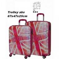TROLLEY ABS DA VIAGGIO 4 RUOTE PEPE JEANS LONDON UNION PINK ORIGINAL 40X67X25CM.GARANZIA 2 ANNI.BAGAGLIO DA STIVA
