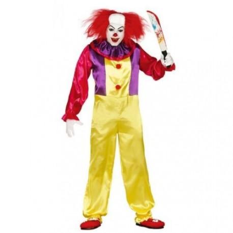 Vestiti Halloween.Vestito Pagliaccio Assassino Adulto Halloween Carnevale Taglia Unica 100 Poliestere