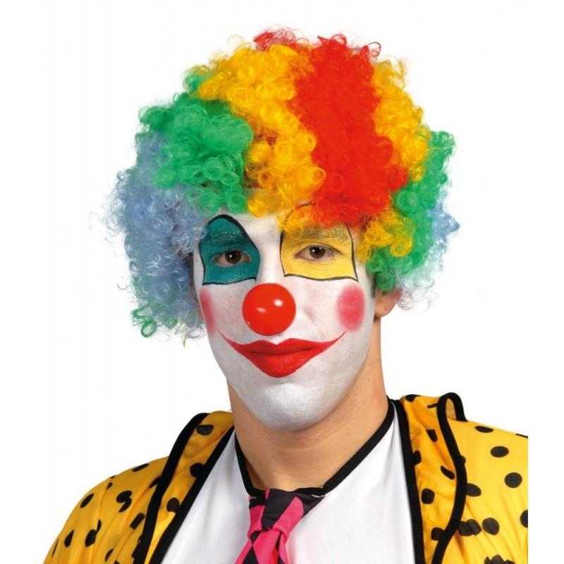 Parrucca Riccia Multicolor Pagliaccio Clown Rizos Per Feste Di