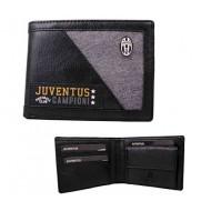 PORTAFOGLIO FC JUVENTUS ORIGINAL NERO E GRIGIO ECOPELLE 12,5X9,5X1,5X24,5CM.80%PU/20%PL.PRODOTTO UFFICIALE COD.13515