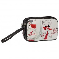 NECESSER POCHETTE 3 ZIP MINNIE COUTURE DISNEY ORIGINAL 16X11X6CM.100% PU