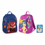 ZAINO ASILO FROM THE MOVIE29X25X10CM. INSIDE OUT DISNEY PIXAR ORIGINAL 1 ZIP 2 COLORI DISPONIBILI BLU/ROSA TOP QUALITY