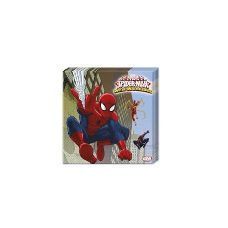 Tovaglioli carta decorati ultimate spider man web warriors original marvel 33x33cm doppio velo - Tovaglioli di carta decorati ...