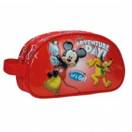BEAUTY DA VIAGGIO MORBIDO MICKEY E PLUTO DISNEY ORIGINAL ADVENTURE DAY PVC/MICROFIBRA 24X14X10CM.