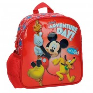 ZAINETTO ASILO ADVENTURE DAY MICKEY E PLUTO DISNEY ORIGINAL 23X25X10CM.ADATTABILE AL CARRELLINO 70%MICROFIBRA 30%PVC