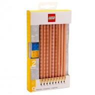 CONFEZIONE 9 MATITE GRAPHITE LEGO ASSEMBLABILI 2 TOPPERS 6+ AGES LEGO ORIGINALE