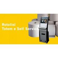 ROTOLI TERMICI MANGIA TICKET MM60X190 METRI FORO 25 GR55 PER MACCHINETTE ELIMINA CODE PER TOTEM UMBRIA ROTOLI ITALY