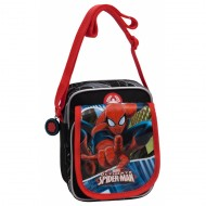 TRACOLLINA SPIDERMAN BLUE CITY MARVEL ORIGINAL 2 ZIP TASCA E PATTINA ESTERNA 15X19X10CM.70%POLIEST/30%PVC.COD.2455551