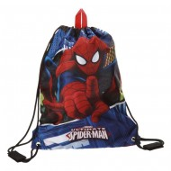 SACCA CON SPALLACCI SPIDERMAN BLUE CITY ULTIMATE MARVEL ORIGINAL 30X40CM.100%POLIESTERE COD.2453851-8435306290954