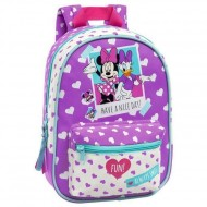 ZAINETTO ASILO E TEMPO LIBERO IN SIMILPELLE MINNIE DAISY DISNEY ORIGINAL 22X30X10CM TOP QUALITY