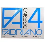 BLOCCO DISEGNO FABRIANO 24X33 RUVIDO F4 220GR.CARTA BIANCA