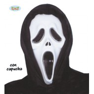 MASCHERA SCREAM PER FESTE E TRAVESTIMENTI DI HALLOWEEN/CARNEVALE E PARTY A TEMA HORROR. GUIRCA CARETA SCREAM PLASTICO