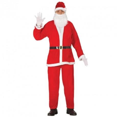Costume Babbo Natale.Costume Babbo Natale Adulto Vestito Santa Claus Completo Cappello