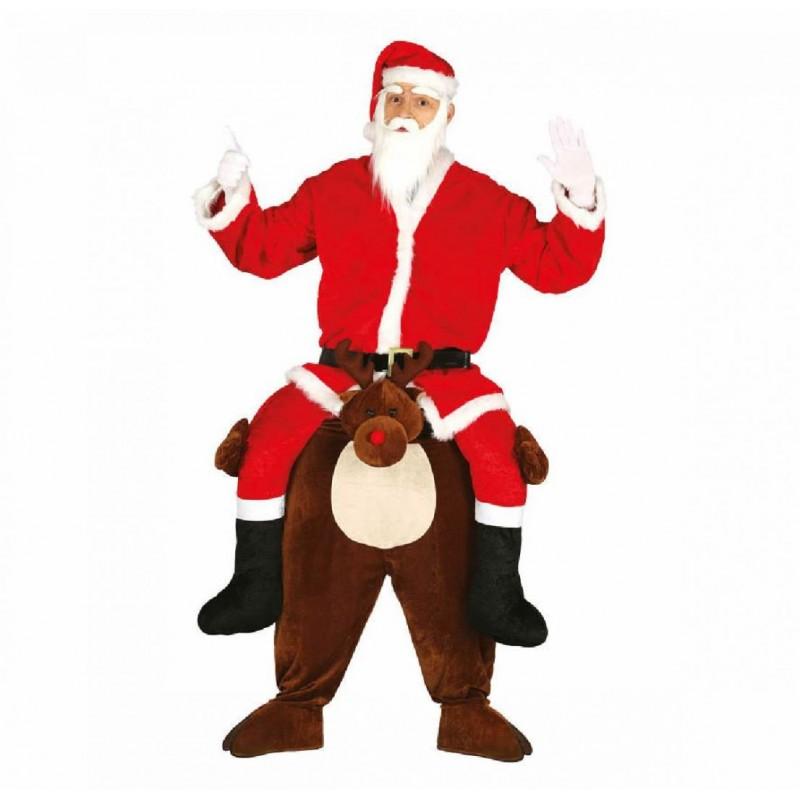 Costume Babbo Natale.Costume Babbo Natale Su Renna Vestito Taglia Unica Tunica Renna E