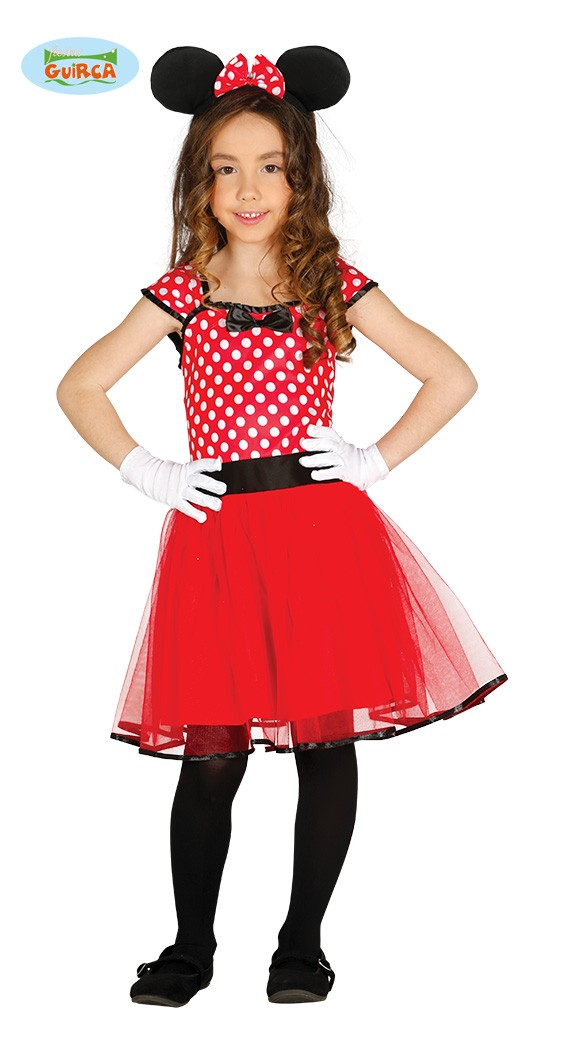 tulle Costume Topolina Cerchietto Bambina Abito Accessori Taglia 80-1-2 anni Halloween tut/ù Carnevale Minnie Costumino Fuxia Idea regalo natale compleanno Body