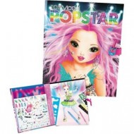 LIBRO ALBUM DA COLORARE CREA LA TUA POPSTAR TOP MODEL CREATIVESTUDIO