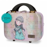 BEAUTY RIGIDO ABS DA VIAGGIO GORJUSS LOST IN MUSIC SANTORO LONDON 29X21X15CM CON ELASTICO PER AGGANCIO TROLLEY VALIGIA