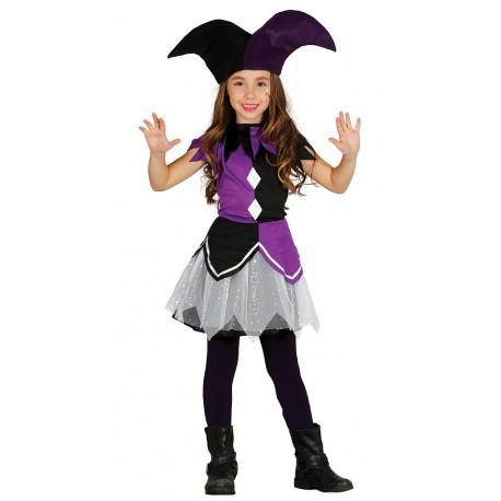 Vestiti Halloween Bambina 3 Anni.Costume Carnevale Arlecchino Viola Bambina 3 4 Anni Vestito Completo Di Cappello No Accessori Cod 10126 Guirma Parole E Pensieri