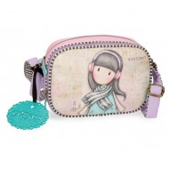 TRACOLLINA 3 ZIP LOST IN MUSIC GORJUSS SANTORO LONDON ORIGINAL 23X17X8CM ROSA/LILLA SFUM.100%PU