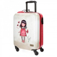 TROLLEY DA VIAGGIO ABS 4 RUOTE GORJUSS TIME TO FLY SANTORO LONDON ORIGINAL 37X55X20CM BAG.A MANO CHIUS.A COMBINAZ 100%PU