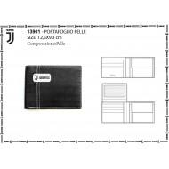 PORTAFOGLIO 100% PELLE FC JUVENTUS ORIGINAL NERO 12X9 bcb60971601