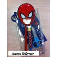 ASTUCCIO COMPLETO SPIDERMAN MARVEL: GOMMA-MATITA-PENNA-RIGHELLO-TEMPERINO