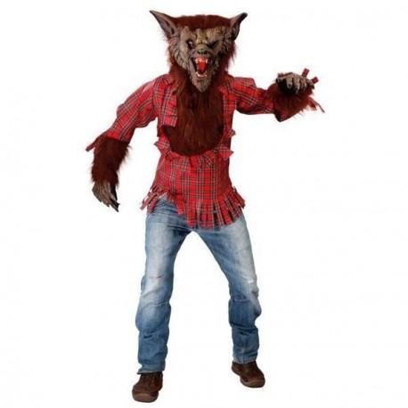 Costumi Halloween Adulti.Costume Carnevale Lupo Mannaro Vestito Tg L Adulto Completo Camicia Con Pelo Maschera Intera Mani Con Pelo No Pantaloni Parole E Pensieri