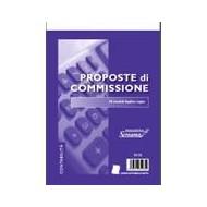 PROPOSTE DI COMMISSIONE A5 50 MODULI DUPLICE COPIA CARTA AUTORICALCANTE 21,5X15CM.
