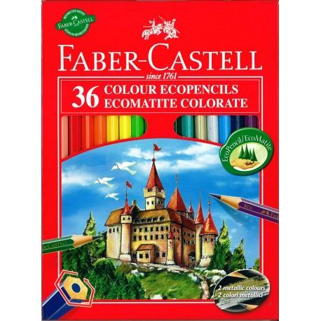 ASTUCCIO MATITE PASTELLI LEGNO 36+3 OMAGGIO COLORI BRILLANTI LUMINOSI + MATITA GRAFITE + TEMPERINO FABER CASTELL GERMANY