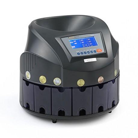 CONTA DIVIDI MONETE EURO 7 CASSETTI CARICO DA 300 A 500PZ CM020 DISPLAY LCD HOLENBECKY DIMENS.321X321MMX270(H) KG4,5
